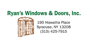 Construction Products & Services Members Ryan's Windows & Doors, Inc. Logo from Syracuse Executives Association