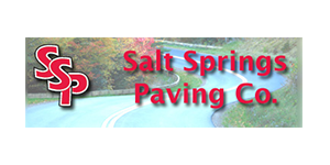 Construction Products & Services Members Salt Springs Paving Company Logo from Syracuse Executives Association